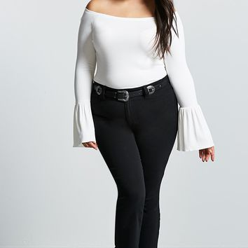 Plus Size Bell-Sleeve Top