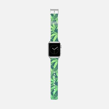 Cannabis / Hemp / 420 / Marijuana - Pattern Apple Watch Band (42mm) by Philipp Rietz | Casetify