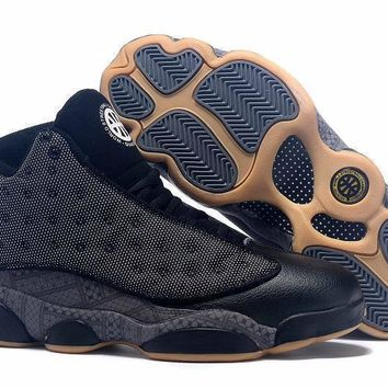 Air Jordan 13 Retro Quai 54 Black Men Basketball Shoes Size Us 8 13