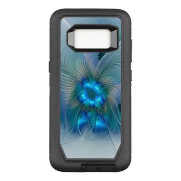 Standing Ovations, Abstract Blue Turquoise Fractal OtterBox Defender Samsung Galaxy S8 Case