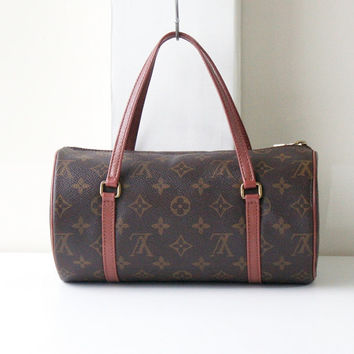 Authentic Louis Vuitton monogram papillon 26 tote handbag vintage purse