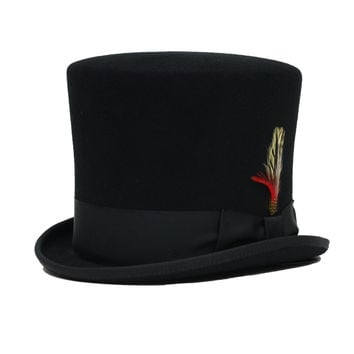 Formal Antique Style Wedding Wool Top Hat