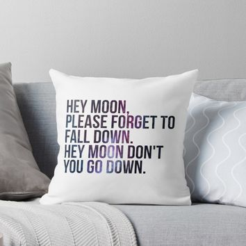'Northern Downpour Hey Moon' Throw Pillow by Macbrittdesigns