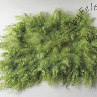 Flokati rug Newborn Wool Prop Green Real Wool Fur Felted Fur Photo Prop  Felted Layer Curly Wool Basket Stuffer  Feltfur Baby Props RTS