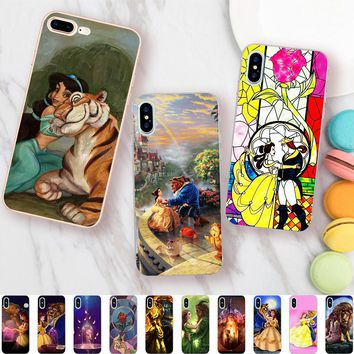 Minason Beauty And The Beast Jasmine Princess Case for iPhone X 5 5S XR XS Max SE 6 6S 7 8 Plus Cover Soft Silicone Phone Fundas