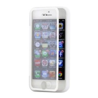 Gearonic AV-5401-Clear-iph5 Hybrid TPU Wrap Up Case with Built-In Screen Protector Stand for iPhone 5 - Non-Retail Packaging - Clear