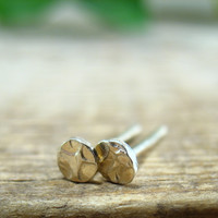 Post/Stud Earrings Sterling Silver Hammered Dots