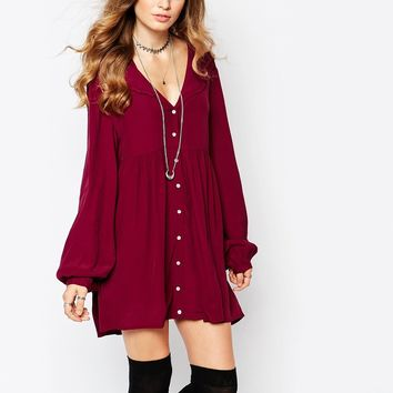 Somedays Lovin Whiplash Button Down Smock Dress
