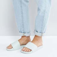 adidas Originals Mint Green Adilette Slider Sandals at asos.com