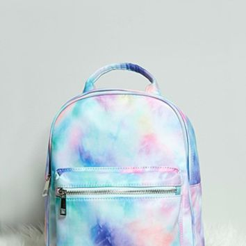 Tie-Dye Print Mini Backpack