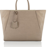 Fendi - 2Jours large textured-leather shopper