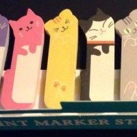1 X 240 Sheets Cute Kitten Kitty Cat Animal Sticker Post-it Bookmark Marker Memo Flags Index Tab Sticky Notes