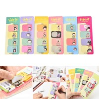 (20sheets*4/pc)Cute Girl Memo Pad Kawaii Diy Post It Stationery Notebook Sticky Notes Paper Planner Stationary Stickers Planner