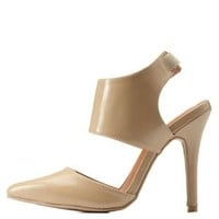 Nude Pointed Toe Slingback D'Orsay Pumps by Charlotte Russe
