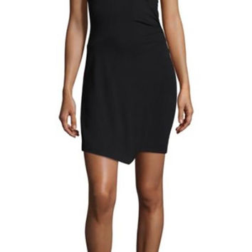 Free People Toast To That Bodycon Mini Dress Black