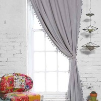 Plum & Bow Blackout Pompom Curtain-