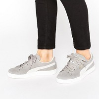 Puma Classic Suede Basket Sneakers In Gray at asos.com