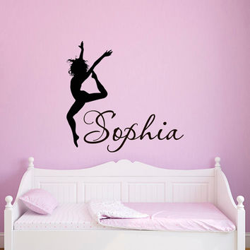 wall decal name girls personalized - from fabwalldecals on etsy