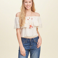 Off-The-Shoulder Banded Top