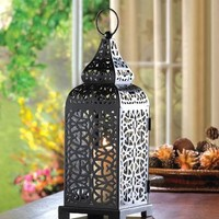 Moroccan Tower Ornate Candle Lantern Centerpiece