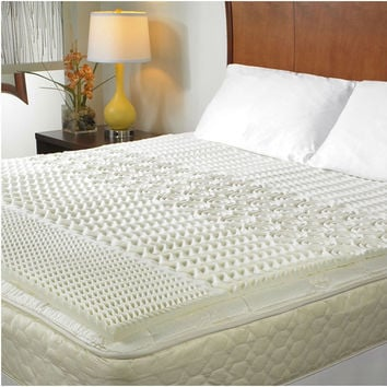 King size 1.5-inch Thick 3-lb Memory Foam Mattress Topper with Zone Support - Hypoallergenic