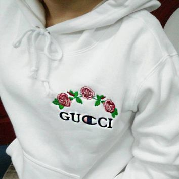 Gucci X Champion Hoodie Varsity Made In Mexico Jacket Sweater hooded Bape Jacket Hip Hop-2