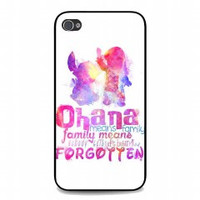 Lilo and Stitch Ohana for iphone 4 and 4s case