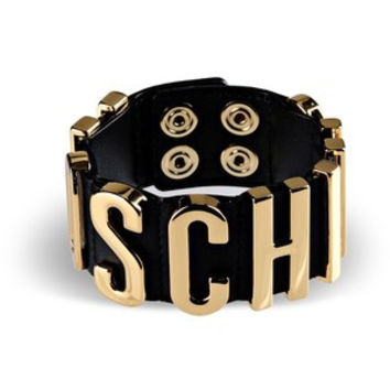 Moschino Leather Cuff Logo