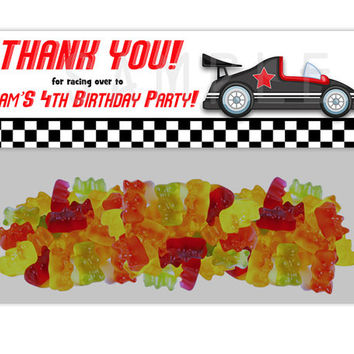 Checkered Race Car Birthday Bag Toppers - Race Car Party Favor Goody Bags - Boy Birthday Treats - Favor Ideas - Candy Buffet - Racing