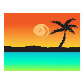 Island Sunset Postcard