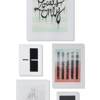 DENY Designs 'Locals Only' Wall Art Gallery (Set of 5) | Nordstrom