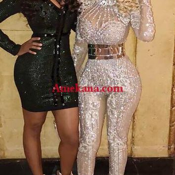 Vogue Diamante Jumpsuits