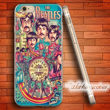 Fundas Vintage The Beatles Soft Clear TPU Case for iPhone X 8 7 6 6S Plus 5S SE 5 5C 4S Plus Case Ultra Thin Slim Silicone Cover