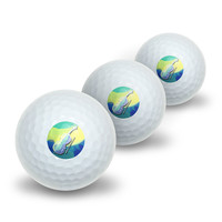 Cello Player - Band Orchestra Instrument Music String Novelty Golf Balls 3 Pack
