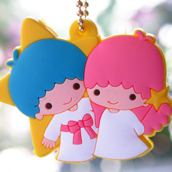Kawaii Sanrio Little Twin Stars Key Cap Cover / Key Chain Holder