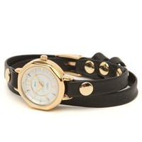 La Mer Del Mar Double Strap Watch - Womens Jewelry - Black - One
