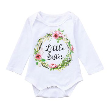 white color Infant Baby Girls Boys Long Sleeve Letter Print Clothes Jumpsuit Romper first birthday outfit girl 12 months