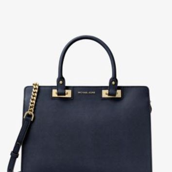 Quinn Large Saffiano Leather Satchel | Michael Kors