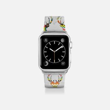 retro deer head transparent apple watch band Apple Watch Band (38mm)  by Sharon Turner | Casetify