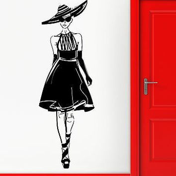 Wall Sticker Vinyl Decal Sexy Girl Fashion Show Style Model Catwalk (ig2199)