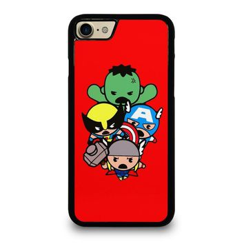 KAWAII CAPTAIN AMERICA HULK THOR WOLVERINE Marvel Avengers Case for iPhone iPod Samsung Galaxy