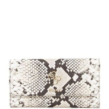 Guess Digital Faux Snakeskin Clutch