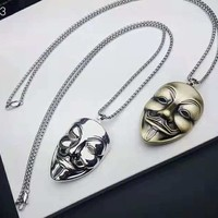 Vendetta Retro V-Vendetta Mask Personality Men's Pendant Necklace