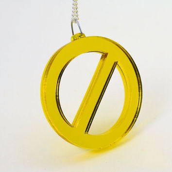 Golden Power of Veto Lasercut Pendant Necklace - Big Brother Laser Cut Jewelry