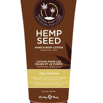Hemp Seed Hand & Body Lotion - Nag Champa (7 fl oz)