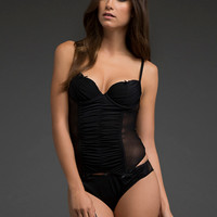 Ruched Push-Up Bustier