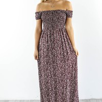 Too Many Times Burgundy Off The Shoulder Dress