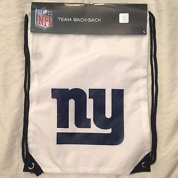 New York Giants Drawstring NFL Team  Logo Back Sack Pack Sling Gym Bag * NEW
