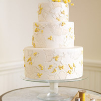 Delicate French Silk Wedding Cake - Traditional Wedding Cakes - Wedding Cakes - MarthaStewartWeddings.com