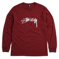 Smooth Stock Longsleeve T-Shirt Wine